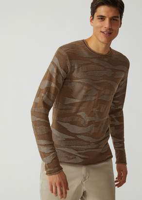 Emporio Armani Lightweight Jacquard Knit Sweater