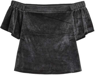 Juicy Couture Velour Top with Bardot Neckline