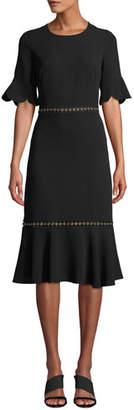 Shoshanna Oleh Grommet & Scalloped Dress