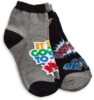 CANADIAN PARALYMPIC TEAM COLLECTION Girls Two-Pack Canada Crew Socks