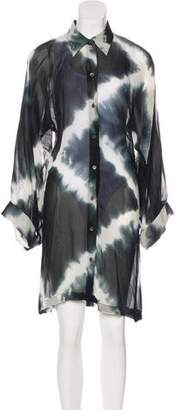 Ann Demeulemeester Semi-Sheer Silk Dress
