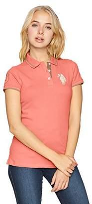 U.S. Polo Assn. Women's Multicolor Pique Polo Shirt