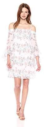 Kensie Dress Women's Printed Off The Shoulder