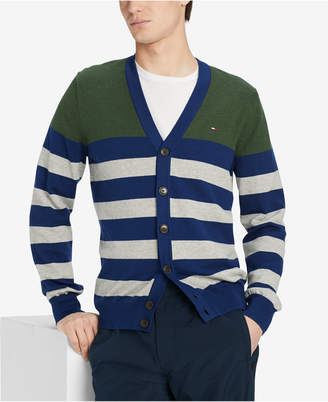 Tommy Hilfiger Men's Signature Striped Cardigan Sweater
