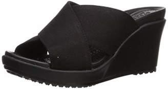 Crocs Women's Leigh II Cross-Strap Wedge Sandal