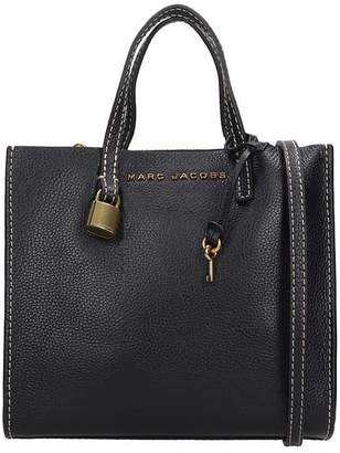 Marc Jacobs Mini Grind Hand Bag In Black Leather