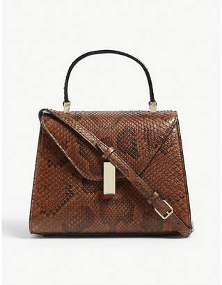 Valextra Python leather mini Iside tote