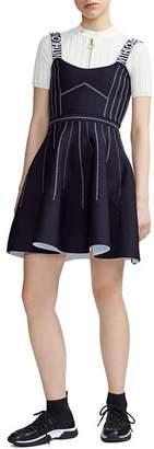 Maje Relief Reversible Skater Dress