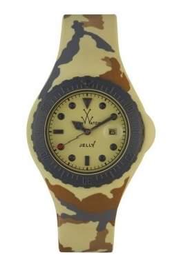Toy Watch Women's JYA03SY Jelly Army Yellow Camo Rubber Watch