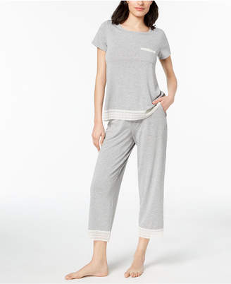 Alfani Lace-Trimmed Knit Pajama Set, Created for Macy's
