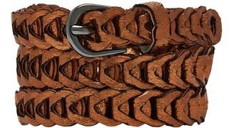 Nooki Design Metallic Loop Belts Rust