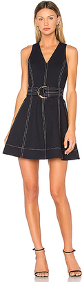 Diane von Furstenberg Ring Mini Dress in Navy $468 thestylecure.com