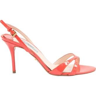Prada Orange Patent leather Heels