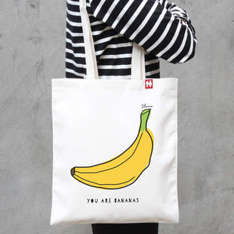 A Piece Of Personalised 'You Are Bananas' Tote Bag