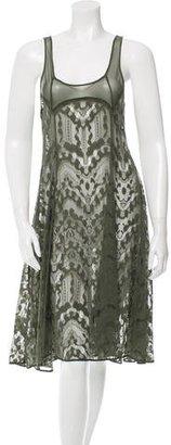Yohji Yamamoto Lace Midi Dress w/ Tags $595 thestylecure.com