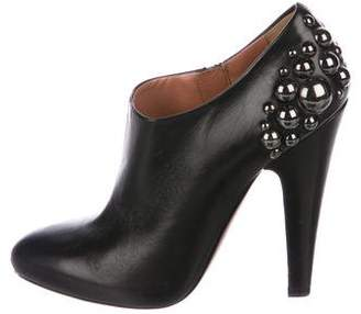 Alaia Leather Studded Booties