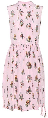prada Prada Printed Silk Dress