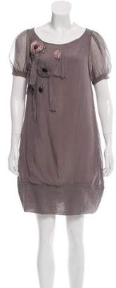 Patrizia Pepe Silk Mini Dress