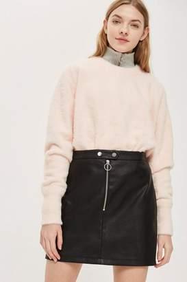 Topshop Zip PU Mini Skirt