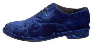 Amélie Pichard Velvet Round-Toe Oxfords