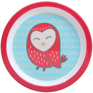 Mainstays Melamine Girl Owl 6-Pack Plate Set