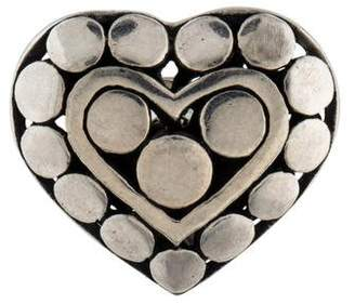 John Hardy Dot Heart Lapel Pin
