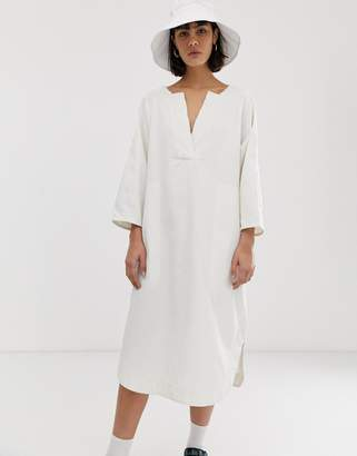 2e4158d93d Weekday recycled Edition Denim Dress in off white