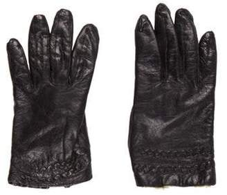 Neiman Marcus Embellished Leather Gloves Black Embellished Leather Gloves