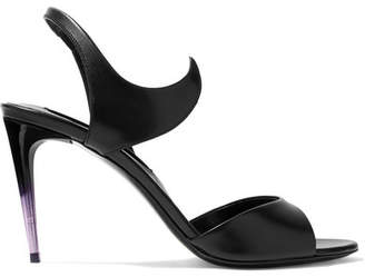 Matteo Mars - Graffio Leather Slingback Sandals - Black