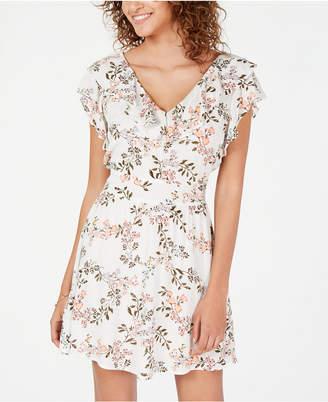 American Rag Juniors  Printed Ruffle-Trimmed Dress 949bf39ce