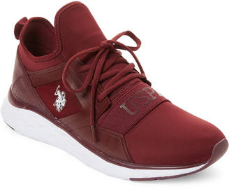 U.S. Polo Assn. Burgundy & White Jace Low-Top Sneakers