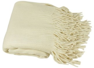 K-Cliffs Deluxe Knitted Throw Blanket Women Poncho Shawl Warm Fashion Cloak Cape Large Wrap Stylish Winter Long Scarf w/ Fringes TH024 Ivory