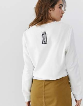 The North Face 92 Rage cropped crew neck fleece in white