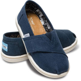 Toms (トムス) - TOMS 【子供】NAVY CANVAS TINY CLASSICS(C)FDB