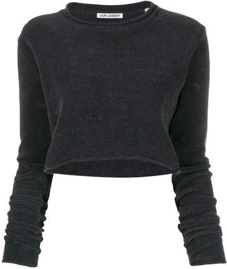 Our Legacy chenille crop top