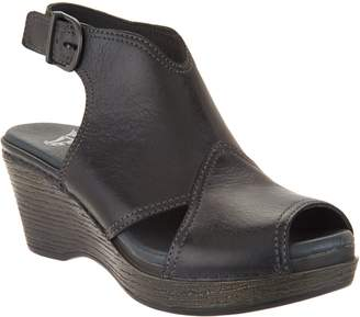 Dansko Leather Wedge Covered Sandals - Vanda