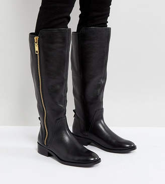 Aldo Wide Fit Casual Knee Boots in Leather