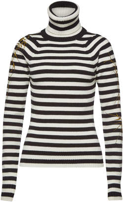 f371ed5434 Haider Ackermann Striped Turtleneck Pullover with Wool and Cashmere