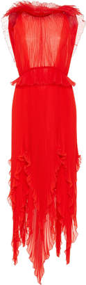 Givenchy Pleated Silk-Georgette Midi Dress