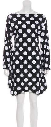 OMO Norma Kamali Polka Dot Mini Dress