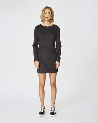 Nicole Miller Ponte Ruffle Long Sleeve Dress