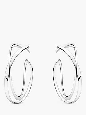 Georg Jensen Infinity Drop Earrings, Silver