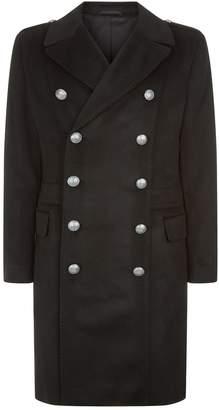 Balmain Cashmere Military Coat