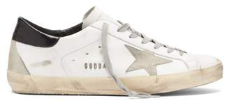 Golden Goose Super Super Low Top Leather Trainers - Mens - White Multi