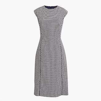 J.Crew Petite cap-sleeve dress in printed matelassé