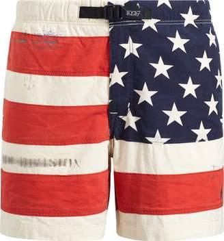 Ralph Lauren Classic Fit Flag Cotton Short