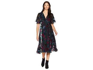 b404995a012de6 ... Hale Bob Sheer Bliss Silk Rayon Velvet Burnout Margurite Dress Women s  Dress