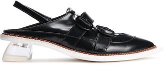 Simone Rocha Buckled Leather Slingback Point-toe Flats