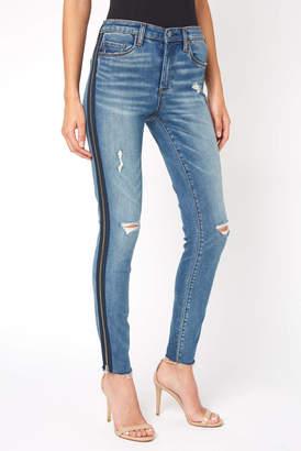 Blank NYC Bond Side Zipper Stripe Jean
