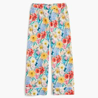 J.Crew Collection silk pull-on pant in Libertyu0026reg; floral